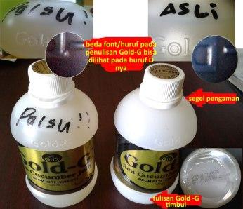 Perbedaan Jelly Gamat Gold-G Asli dan Palsu